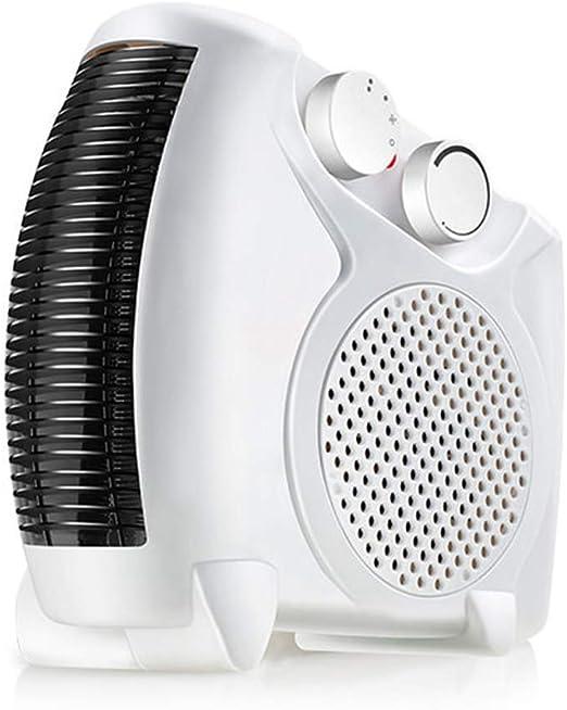QINAIDI Mini Calentador eléctrico Ventilador de Aire Caliente frío ...