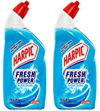 Harpic Fresh Power Liquid Toilet Cleaner Marine Splash, 700ml … (2 Pack Marine Splash)