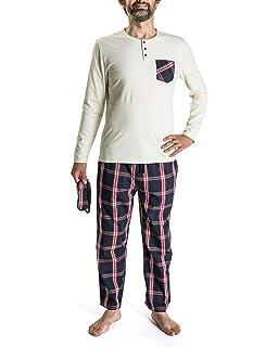 Nightoclock Brent Conjunto de Pijama para Hombre en algodón orgánico e Antifaz: Amazon.es: Ropa y accesorios