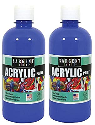 Sargent Art 24-2450 16-Ounce Acrylic Paint, Blue