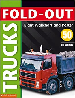 TRUCKS: FOLD-OUT POSTER STICKER BOOK (Fold-Out Poster Sticker Books)
