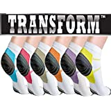 Multi Color Unisex Ankle-Length Compression Socks (6 Pack) DEAL!