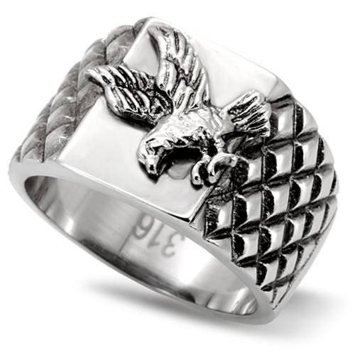 Mens American Eagle 316 Stainless Steel Statement Ring Ginger Lyne Collection (13)