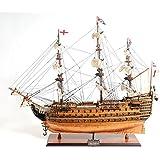 "Wooden Ship Model HMS VICTORY w//brass cannons  13/""Long"