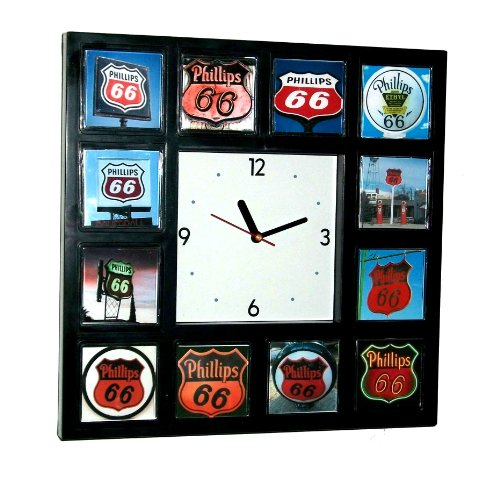 Phillips 66 Gas Oil Sign Collection Wall or desk clock