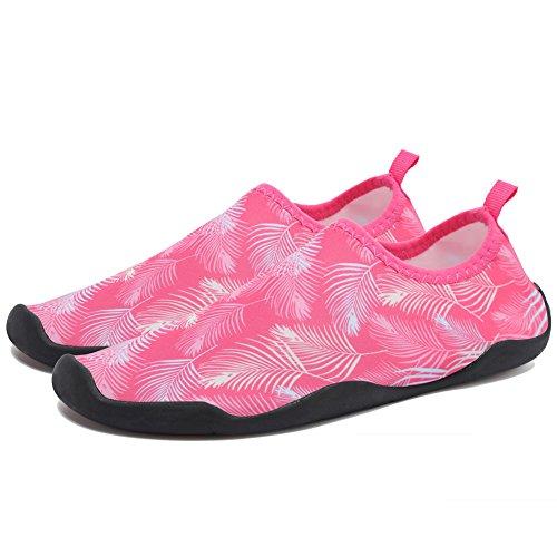 CIOR Multifunctional Barefoot Shoes Men Women Quick-Dry Water Shoes Aqua Socks For Beach Pool Surf Yoga Pink02 RihlUnE