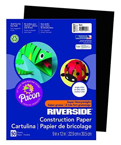 Riverside 103607 Construction Paper, 76 lb, 0.5