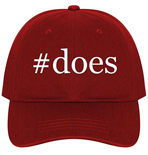 #Does - A Nice Comfortable Adjustable Hashtag Dad Hat Cap, Red, One Size