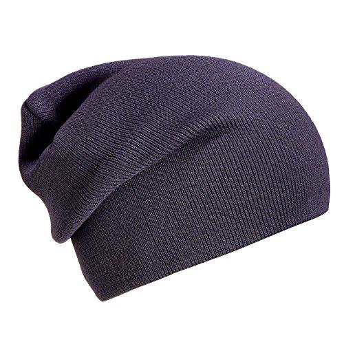 gorro invierno abrigo beanie púrpura y slouch suave moderno de diseño DonDon de Gris gorro clásico BSpxwBqd