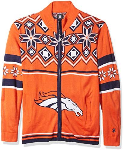 Denver Broncos Split Logo Ugly Sweater Jacket ()
