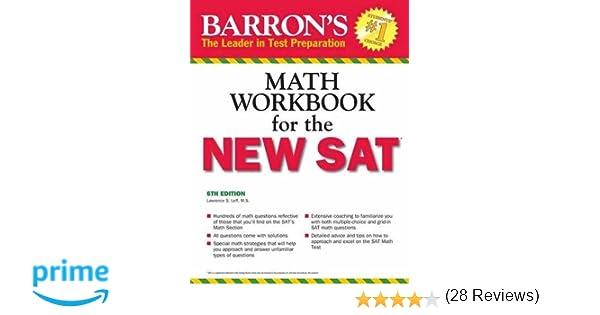 Amazon.com: Barron's Math Workbook for the NEW SAT, 6th Edition ...