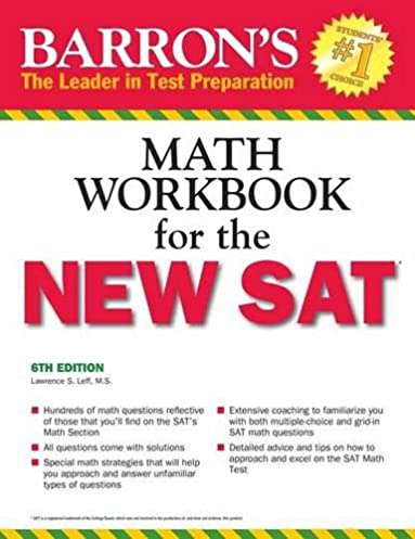 math worksheet : amazon  barronu0027s math workbook for the new sat 6th edition  : Math Workbook