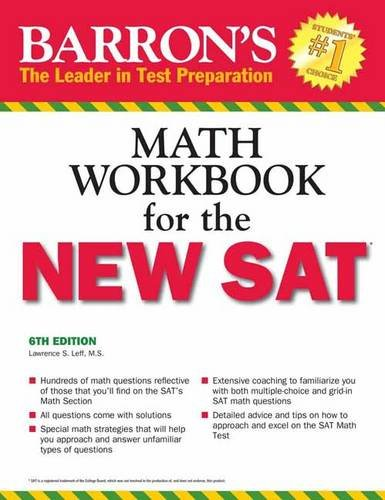 Barron's Math Workbook for the NEW SAT, 6th Edition (Barron's Sat Math Workbook) cover