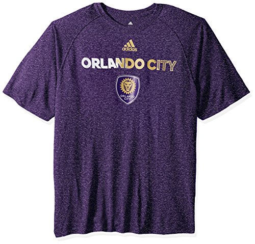 fan products of MLS Orlando City Adult Men Striker S/Climalite Tee,Medium,Purple