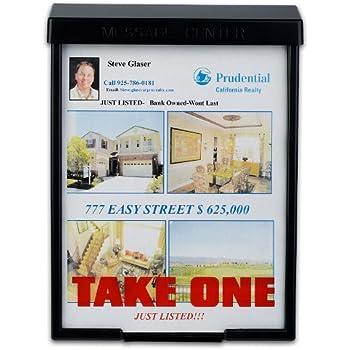 amazon com black snap shut brochure box brochure holder flyer box