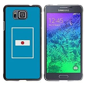 YiPhone /// Prima de resorte delgada de la cubierta del caso de Shell Armor - Flag Nation Country Blue Minimalist - Samsung GALAXY ALPHA G850