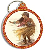 Hawaiian Gold Foil Trimmed Christmas Ornament The Soft Gentle Breeze