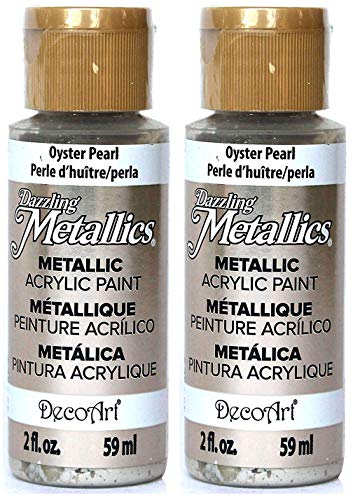 2-Pack - DecoArt Dazzling Metallics Acrylic Colors - Oyster Pearl, 2-Ounces Each ()