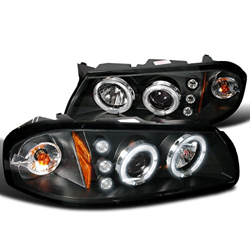 Spec-D Tuning 2LHP-IPA00JM-TM Chevy Impala Black Dual Halo Projector Head Lights (Head Lights 2003 Chevy Impala compare prices)