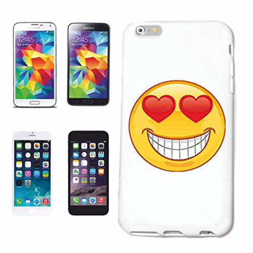 "cas de téléphone iPhone 6S ""EN CŒUR D'AMOUR SMILEY DANS LES YEUX ""SMILEYS SMILIES ANDROID IPHONE EMOTICONS IOS grin VISAGE EMOTICON APP"" Hard Case Cover Téléphone Covers Smart Cover pour Apple iPhone"