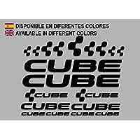 Ecoshirt AJ-K1JQ-SMOC Pegatinas Cube F177 Vinilo Adesivi Decal