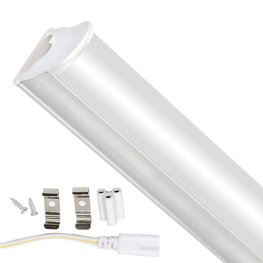 3FT LED Fluorescent Tube T5 Tube Lamp Light Bar 3000K Energy Saving Lamps Office Lighting Indoor Lighting Cabinet Lights for Garage Conference Room School Hospital Restaurants Hotels 15W 1125LM 1pc XYD