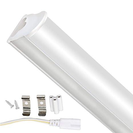 2FT Tubos Fluorescentes LED Lámpara 6000K 750LM T5 Lámparas Lluminación Gabinete Interior Luces Bar Garaje Sala de Conferencias Oficina Escuela ...