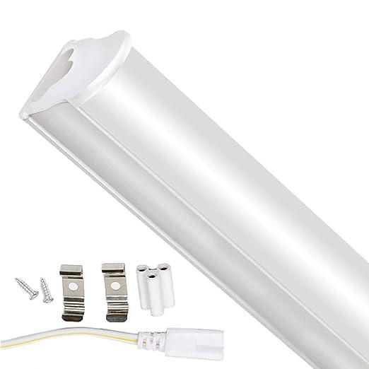3FT Tubos Fluorescentes LED Lámpara 3000K 1125LM T5 Lámparas Lluminación Gabinete Interior Luces Bar Garaje Sala de Conferencias Oficina Escuela ...