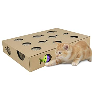 Biback Rascador Alfombra de Gato rascador Tabla de Gatos Garras Cuidado Juguete Educativo