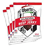Oberto All-Natural Beef Jerky, Spicy Sweet, 3.25 Ounce (Pack of 4)
