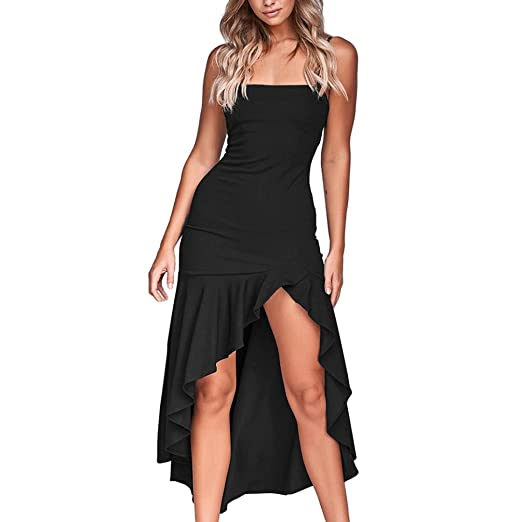 99df15ca6c1 Image Unavailable. Image not available for. Color  Womens Sleeveless Boho  Dress Lady Beach Summer Sundrss Maxi Dress