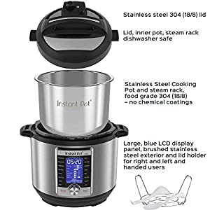 Instant-Pot-Ultra-10-in-1-Electric-Pressure-Cooker-Sterilizer-Slow-Cooker-Rice-Cooker-Steamer-Saut-Yogurt-Maker-Cake-Maker-Egg-Cooker-and-Warmer-8-Quart-16-One-Touch-Programs