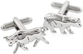 product image for JJ Weston Bull and Bear Cufflinks. Made in The USA.