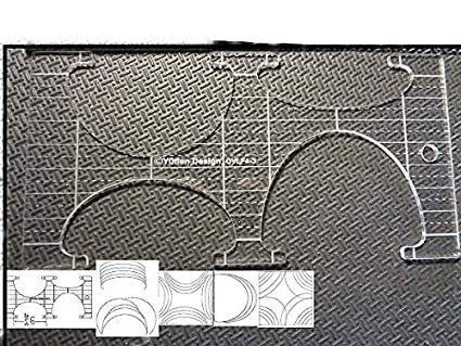 Quilting Template Ruler 5mm Ovals High Shank Machines Leaves for Long Arm