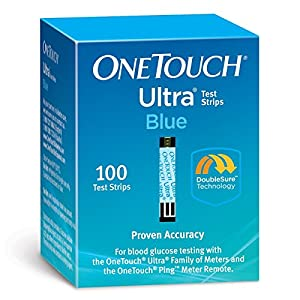One Touch Ultra Test Strip Blue by One Touch Ultra Blue 100 Test Strips