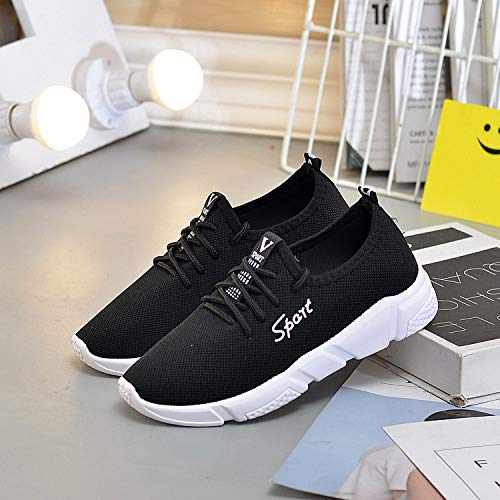 black Hasag Zapatos de Sneakers Modelos Mujer Pareja Casual Moda 7Cwq8f7H