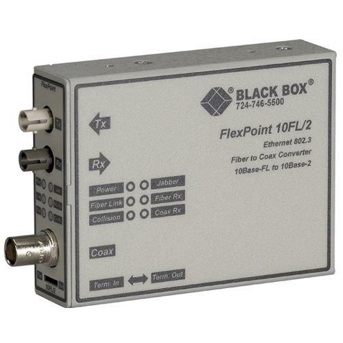 Thinnet Ethernet - Black Box Media Converter ThinNet Ethernet Multimode 850nm 2km ST