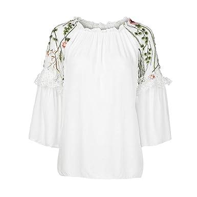 3b2b55ea0f0a0 LANSKIRT  Pull femme sexy Sweat-Shirt Femme, Mode Femmes O-Neck Blouse  Floral