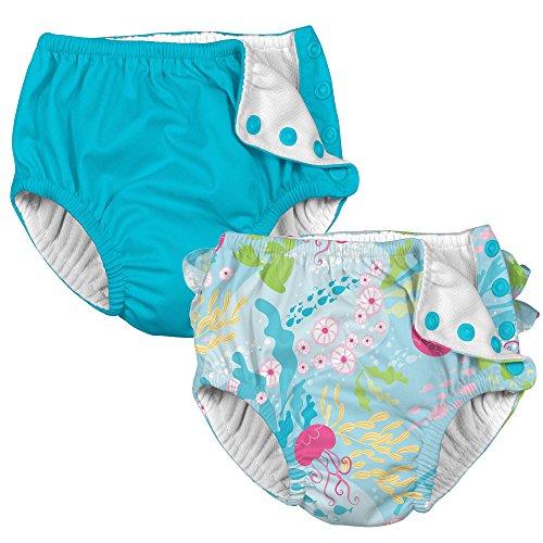 Baby Girls Cloth Reusable Swim Diaper i Play 2 Pack
