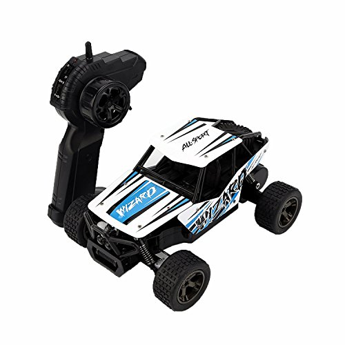 STOTOY RC Car - Electric Offroad Remote Control Cars - RTR RC Buggy Monster Truck 1:18 Scake 4WD 2.4Ghz High Speed with 1 Rechargeable Battery -Blue