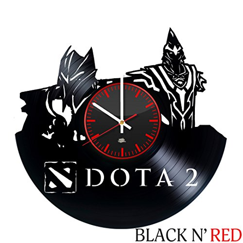 WhatsUp Store Dota 2 Video Game Theme Design Vinyl Record Wall Clock - Wonderful bedroom, play room wall art decoration - Fancy gift idea for boyfriend, father or friends