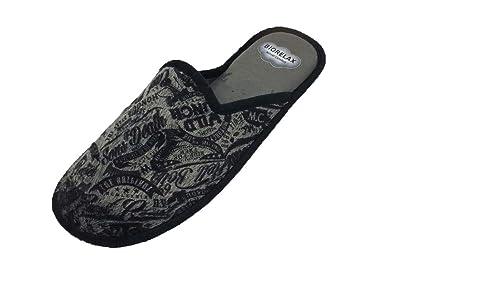 Zapatillas de Estar por casa/Hombre/Biorelax/Gris/Empeine Suapel/Cámara