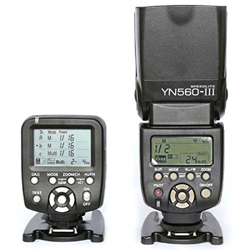 Yongnuo YN560-TX Wireless Flash Controller With 1pc YN-560 III Flash Speedlite for Canon EOS 700D 650D 600D 550D 500D 450D 400D 350D 300D 1DIV 1DIII 5D 5DII 5DIII 1D 1Ds 7D by Yongnuo