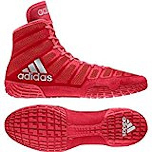 adidas Men's Adizero Varner Wrestling Shoes, Red/Silver, Size 10.5
