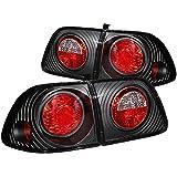 honda civic 2000 4 door - 1999-2000 HONDA CIVIC 4 DOOR TAIL LIGHTS JDM REAR BRAKE LAMPS+DRL LED FOG BUMPER