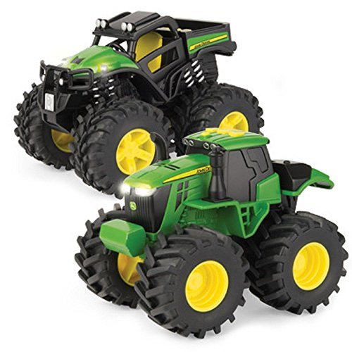John Deere 6in Monster Treads With Lights and Sounds 2 pack (Monster Truck Sound)