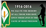 5ft x 3ft (150 x 90 cm) Easter Rising Freedom 1916-2016 Ireland Irish 100% Polyester Material Flag Banner Ideal For Pub Club School Business Party Decoration by Unknown
