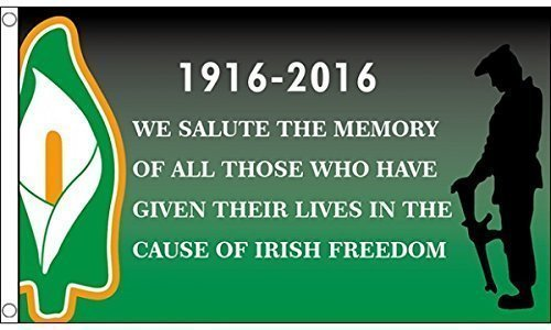 5ft x 3ft (150 x 90 cm) Easter Rising Freedom 1916-2016 Ireland Irish 100% Polyester Material Flag Banner Ideal For Pub Club School Business Party Decoration by Unknown by Unknown
