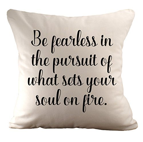 Invacare Polyester (Be fearless in the pursuit of what set your soul on fire Pillowcases / Cushion Cover/ Prosecco Princess Personalised Cushion Cover / Gift for Friend / 16x16)