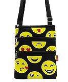 Emoji Messenger Bag Smiley Face Cross Body Shoulder Handbag